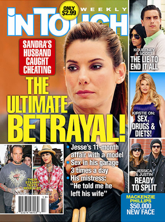 Jesse james cheated on sandra bullock with